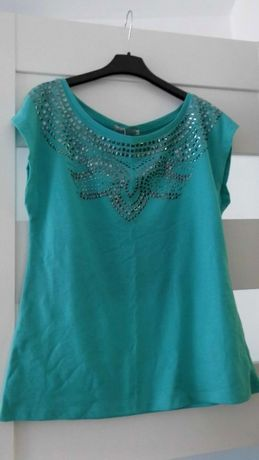 Śliczna turkusowa bluzka XL