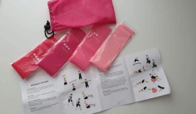Zestaw gum oporowych taśmy do ćwiczeń 5 szt + worek ochronny