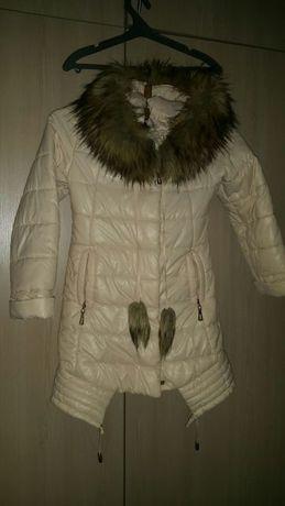 Пальто зимнее на девочку 110-134