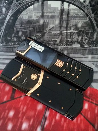 Vertu Signature Rose GOLD BLACK DLC. Верту.