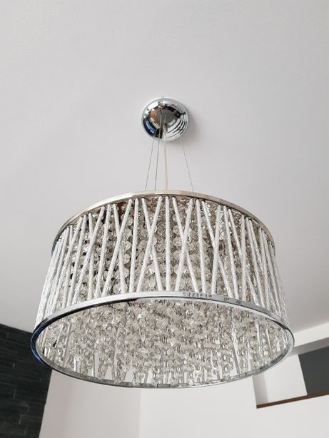 Lampa wisząca styl glamour - kryształ