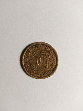 """Moneta 10 fenigów 1930 r. Mennica """"A"""" Berlin"""
