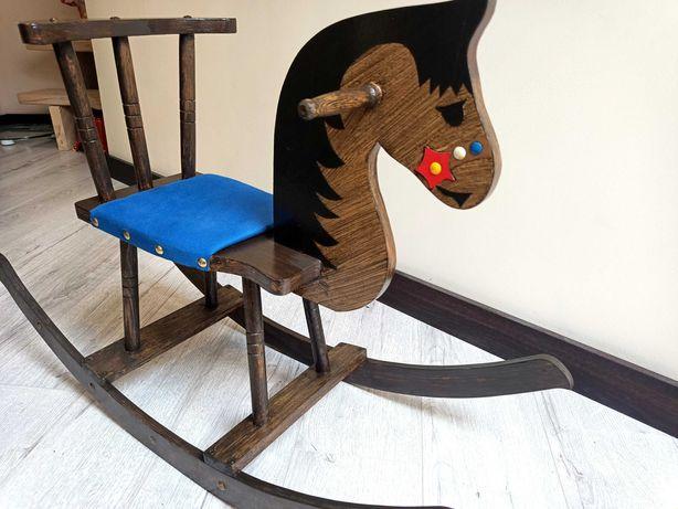 Новий дерев'яний коник качалка, лошадка каталка.