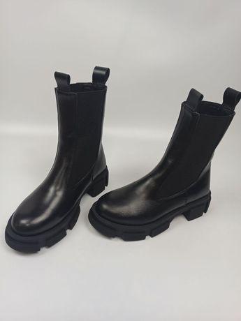 Ботинки Челсі осінь/зима натуральна шкіра
