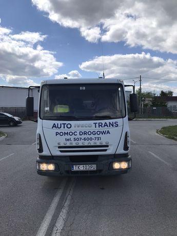 Iveco eurocargo 75 e18 autolaweta pomoc drogowa wciagarka 3.5 tony