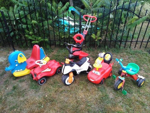 Zestaw 7 zabawek do jeżdżenia, samochód, rower, motor dla dziecka