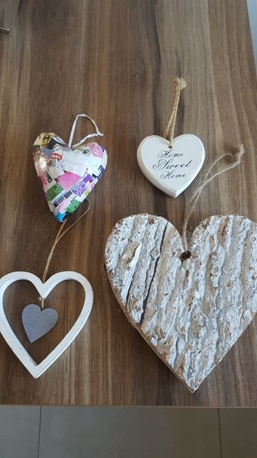 Serce drewniane , serduszka, serca