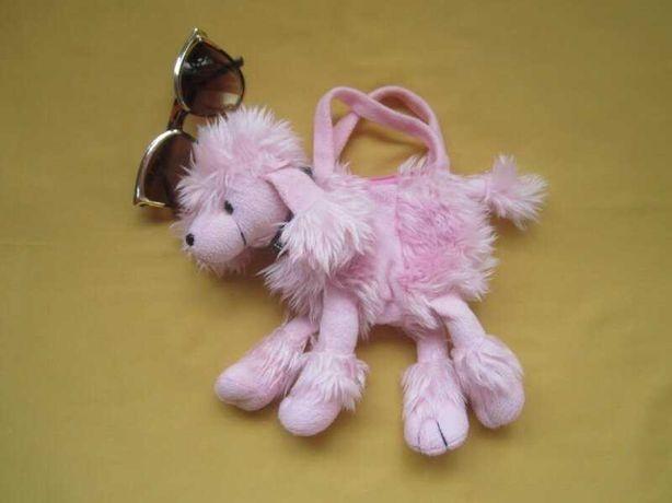 Меховая красивая сумка игрушка собачка для девочек