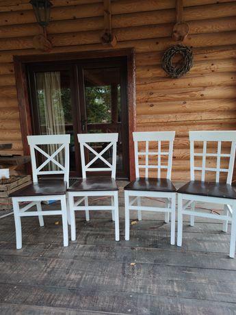 Komplet krzeseł 4 szt. Krzesło drewniane