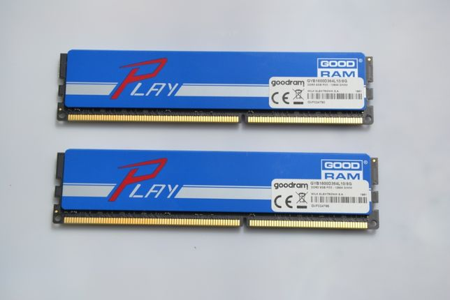 Pamięć RAM 16GB DDR3 GoodRam Play 2x8GB 1600MHz, CL10