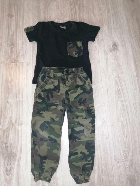 Spodnie T-shirt moro wojskowy Geekid 4-5lat 104-110