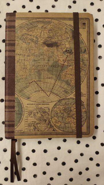 Bloco notas mapa mundo