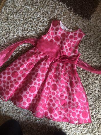 Rozowa sukieneczka 4 lata