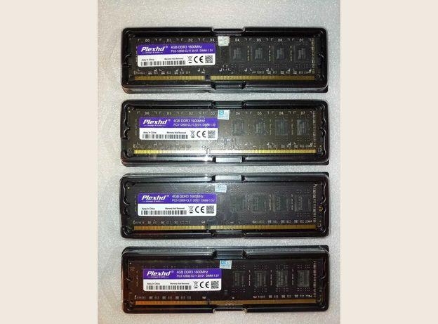 DDR3 - 4GB PlexHD 1600MHz (чипы Samsung, ADATA, Team и др.)