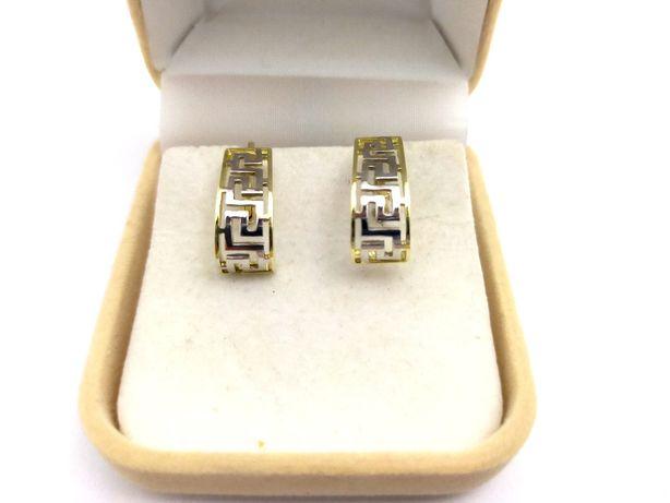 Złote Kolczyki GRECKI WZÓR P333 2,62G