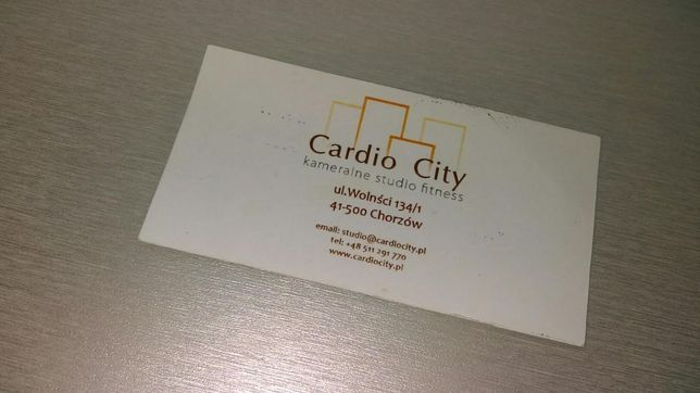Karnet Cardio City