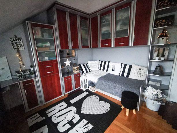 Meble zabudowane, gabinet, szafki, łóżko, biurko, pokój