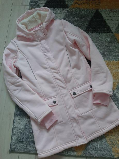 Softshell płaszczyk kurtka na baranku 158/164