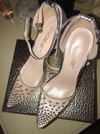 Туфли женские на каблуке, силикон прозрачные лодочки