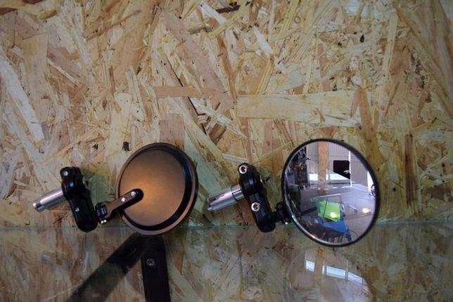 Espelhos retrovisor guiador para mota bobber cafe racer ou scrambler