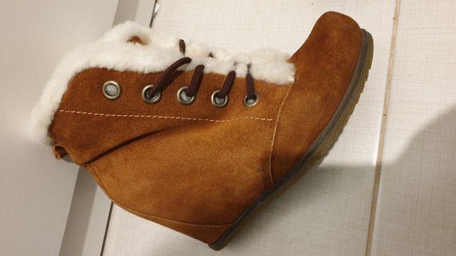 Ботинки женские замшевые натуральные