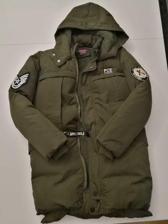 Zimowa chłopięca kurtka khaki 9-11 lat