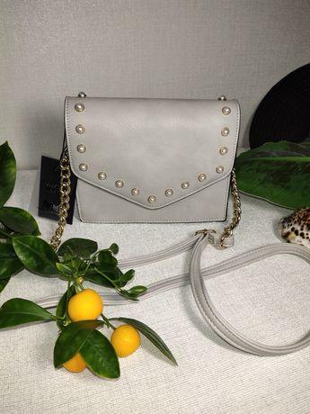 Модная сумка с цепочками на ремешке, кросбоди