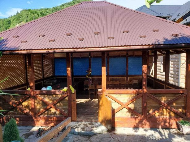 Продам ГОТОВУ деревяну АЛЬТАНКУ \ БЕСЕДКУ \ ЙОГА Зал 7,5м Х 6,2м