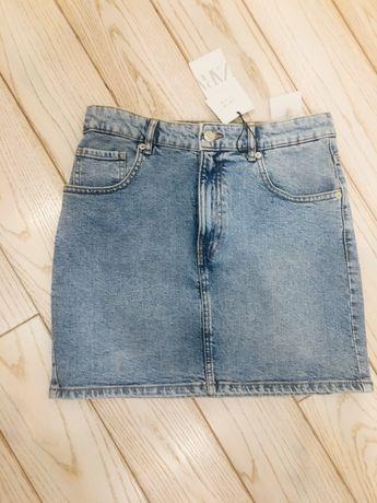 Spódnica NOWA ZARA jeans jeansowa M elastycZna spódniczka