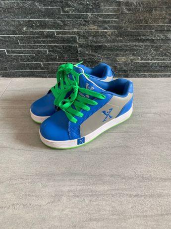r. 35 - 22 cm / SIDEWALK niebieskie butorolki buty na kółkach