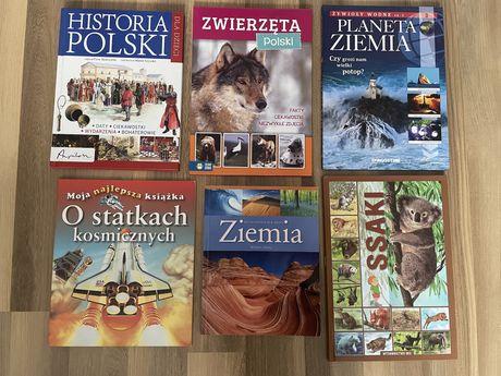 Książki dla dzieci, zwierzęta, ziemia, historia, atlas