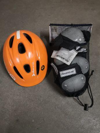 Protecções para criança (capacete, joelheiras e cotoveleiras)