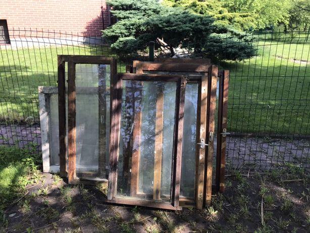 Okna np. na inspekty, drewniane z demontażu