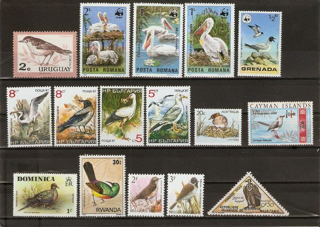 Sprzedam czyste znaczki o tematyce ptaki luzaki stan**