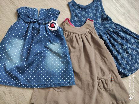 Zestaw ubrań dla dziewczynki 9-12 miesięcy,27 sztuk, Zara, George inne