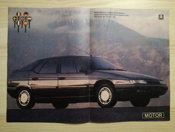 Plakat Poster Citroen XM 33cm x 47,5cm Samochody Francuskie Auto Cars