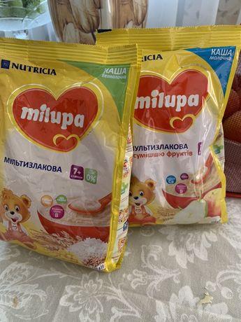 Каши milupa молочная и безмолочная мультизлаковая  7+