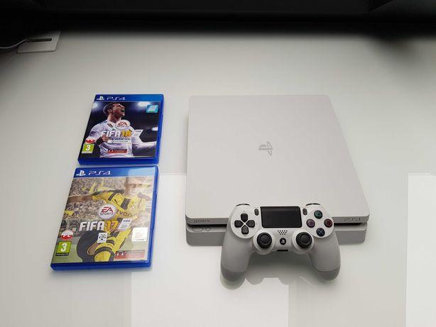 Konsola do gier PS4/PlayStation4 Slim 500GB biała +2 gry