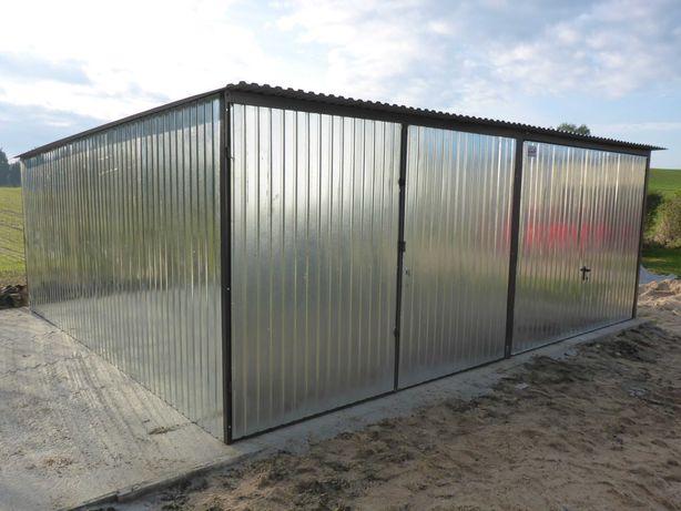 Garaż blaszany 6x5 6x6 dwustanowiskowy WZMOCNIONY PRODUCENT