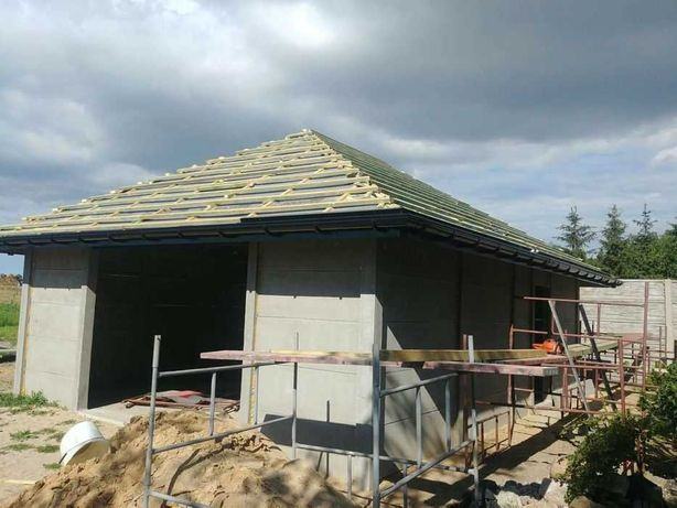 Ogrodzenia betonowe montaż garaże wiaty słupki leśne jumby