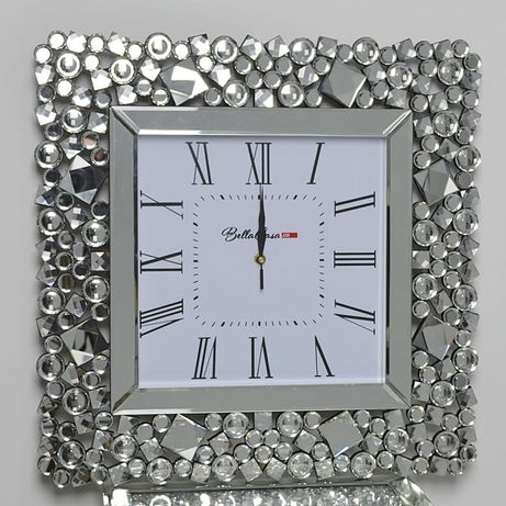 Kwadratowy zegar glamour C-0512 50x50x4,6 cm
