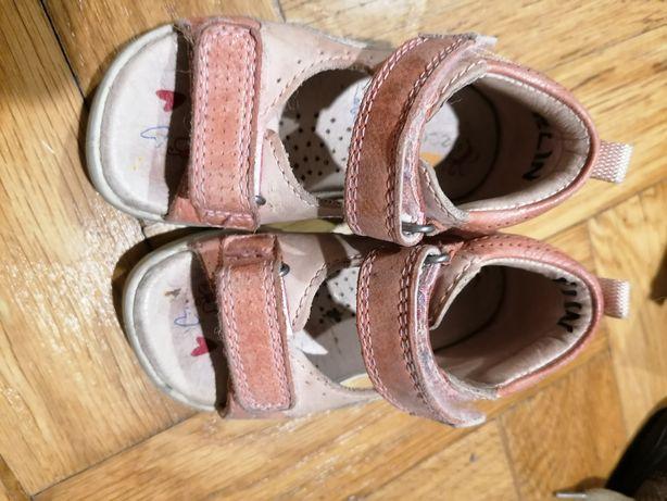Sandały sandałki Ecco rozm 21 skórzane skóra