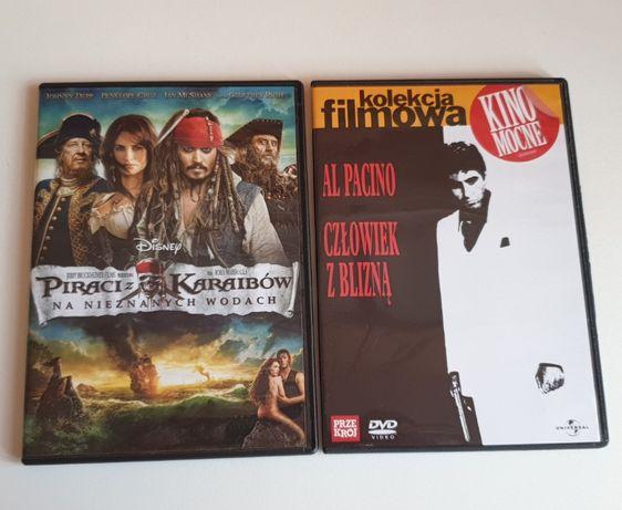 Filmy DVD człowiek z blizna, piraci z Karaibów