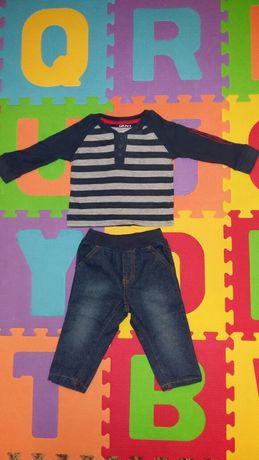 Костюм, комплект, штаны джинсы и реглан, кофта DKNY