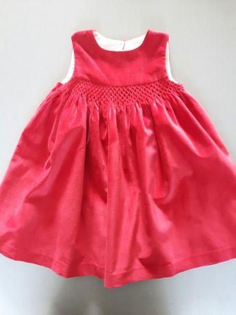 Aksamitna sukienka 2-3 lata