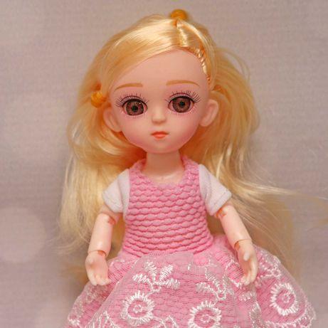 Laleczka lalka bjd 1/8 16cm ruchome stawy blond włosy 2