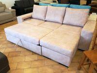 Sofá cama Carmen com 260 cm, novo de fábrica