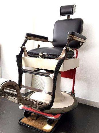 Cadeira de barbeiro antiga Vintage - Pessoa Lisboa