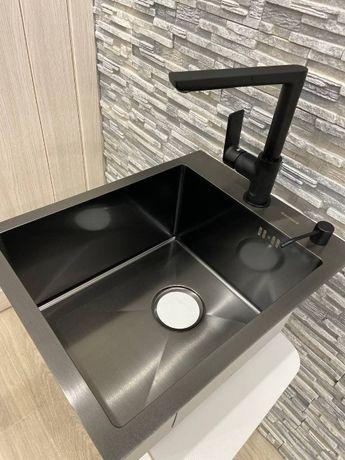 Кухонная мойка Germece HANDMADE PVD 4050 чорная