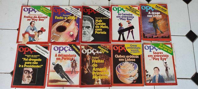 42 revistas Anos 60, 70 e 80 - Observador, Vida Mundial, Opção, Mais